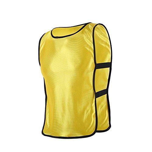 Alomejor 5Colors - Baberos de entrenamiento para niños, diseño de fútbol, color amarillo