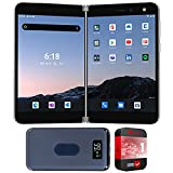 Microsoft TGM-00001 Surface Duo 256GB (Locked AT&T) Folding 2 Screen Smartphone, Glacier Bundle with Deco Gear 8000 mAh Power Bank with Wireless Charging and 1 Year Extended Protection Plan