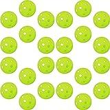 GP (ジーピー) 野球 バッティング トレーニングボール 穴あき PE素材 蛍光緑 72mm 24個入り