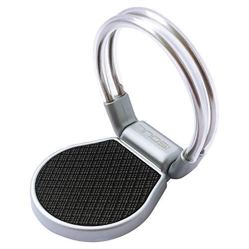 ISOUL Mobiele Telefoon Ring Houder, 3 In 1 Universele Auto Telefoon Verstelbare Air Vent Vinger Ring Mount Handige Loop Stand Grip (360° Rotatie) Voor Alle Smartphones, Tabletten en Meer Metallic Zilver