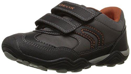 Geox JR ARNO A, Jungen Velcro, Grau (GREY/ORANGEC0036), 26 EU (8.5 Kinder UK)