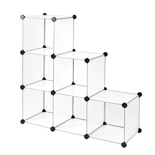 Dibea Modular, Armario, Sistema de estantería, Zapatero, 6 Compartimentos, 6 Fächer, 30 x 30 cm