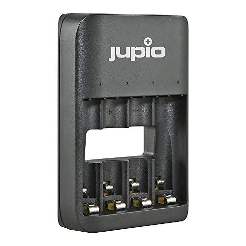 Jupio Cargador de batería LED con 4 Ranuras