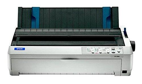 Epson C11C526001 FX-2190 Serieller Impact-Drucker Wide Format 136 COL 9-polig parallele und USB-Schnittstellen, Farbe Hellgrau