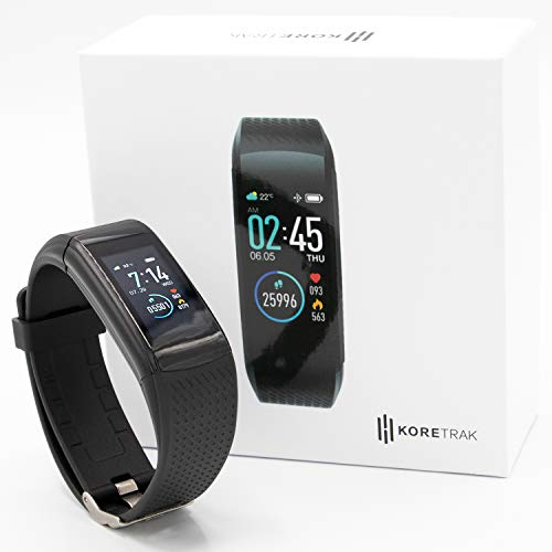 KoreHealth Smart Watch Fitness Tracker | KoreTrak Fitness Tracker Health Watch with Blood Pressure and Heart Rate Monitor | Activity Tracker and Fit Step Counter GPS Fitness Tracker Watches