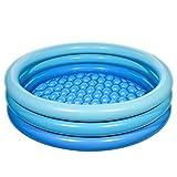 iBaseToy Aufblasbarer Pool, 150 x 38cm Planschbecken Kiddie Pool / Blowup Pools für Kinder Erwachsene Familien Hinterhof Pool / Aufblasbarer Wasserpool für drinnen und draußen