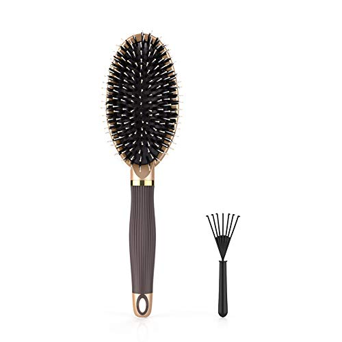 Hair Brush,LYLFL Boar Bristle Hair Brush and Works Great on Wet or Dry Hair