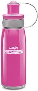 Milton Thermos Steel Bottle for Kids 400 ml 13.5 Oz Steel Bravo 400 (Pink)