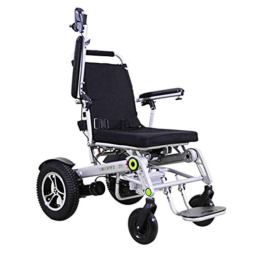 TWL LTD-Wheelchairs Electric Wheelchair Aluminum Alloy Remote Control Wheelchair Elderly Disabled Vibration Four-Wheeled Vehicle Scooter with Gps Real-Time Positioning, Driving Track Query