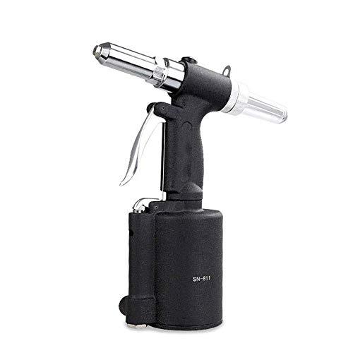 Pistola de remachador neumática de Zuqiee Alta resistencia neumática Remachadora, neumática Remache Gun, ahorro de mano de obra de calidad industrial multifunción herramienta y ergonómico