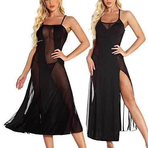 PJQQ Conjuntos de lencería para mujer, mini vestidos sexy sin costuras, lencería para sexo, lencería sexy para mujeres, lencería de lencería para mujer, vestido de encaje largo, kimono cárdigan