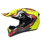 Casco da cross per bambini con visiera ATV Off-Road Dirt Bike Helmet Casco da moto Casco da motocross Bambini con guanti DOT