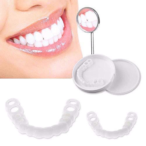 HZZ Kosmetische Zahn Sofortig Furniere Zahnersatz Provisorisch Zahn FüLlung Kit Eine Hervorragende Alternative Zu Teuren Zahnspangen, 2 Pairs (Upper Teeth + Lower Teeth)