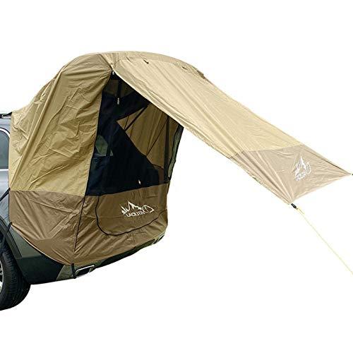 Carpa de maletero para coche, al aire libre, autoconducción, barbacoa, camping, extensión de la cola del coche, parasol y resistente a la lluvia, tienda de campaña de viaje