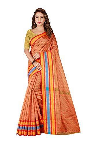 Indische Bollywood Hochzeit Saree indische ethnische Hochzeit Sari neue Kleid Damen lässig Tuch Geburtstag Ernte Top Mädchen Frauen schlicht traditionelle Party Wear Readymade Kostüm (orange (Peach 2)