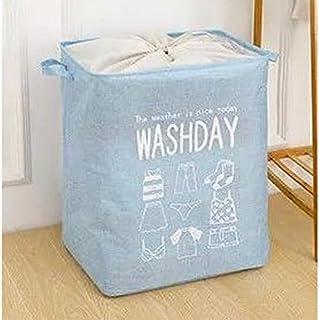 سله تخزين - سلة غسيل قابلة للطي لتخزين الملابس ولعب الاطفال