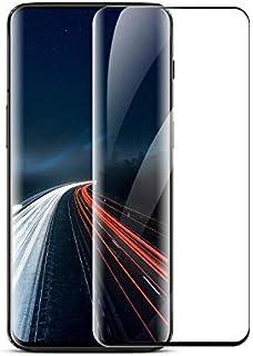 جراب واقي للشاشة من الزجاج المقسى لهاتف وان بلس 7 برو 3D، أسود