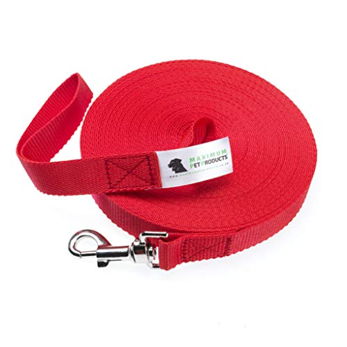 Maximum Pet Products 30ft Red Dog Training Lead …