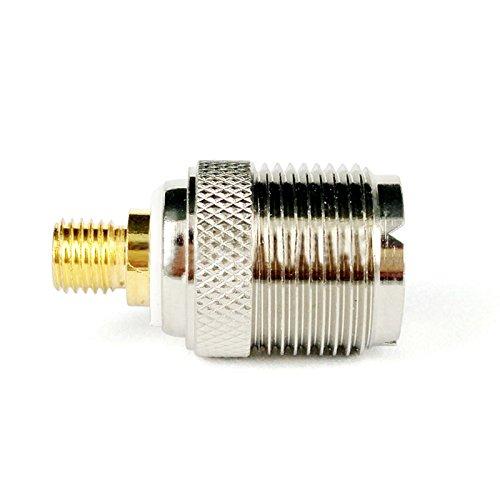 SODIAL Adaptador de Conector Coaxial de Antena RF intercomunicador Coche para Motorola portatil de Dos vias Radio GP328 GP300 GP88 GP340 GP338 CP040