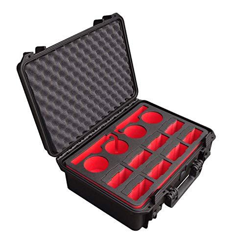 Custodia per batterie per DJI Inspire 2 ovvero DJI Matrcie 200, per 12 batterie + Accessori, Battery Case, Custodia impermeabile per esterni, Hardcase