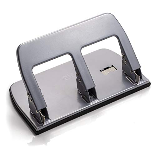 Officemate 3 Hole Punch with Ergonomic Handle, 30 Sheet Capacity, Silver (90155)