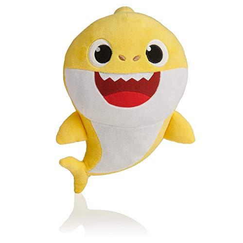 Baby Shark Babyhaai Zingen Knuffels Haaienpop Zachte knuffels en speelgoed Pluche kind Cartoon Shark met 3 kleuren (yellow)