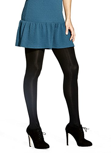 No Nonsense Women's Super Opaque Control-Top Tights, Black, XX-Large