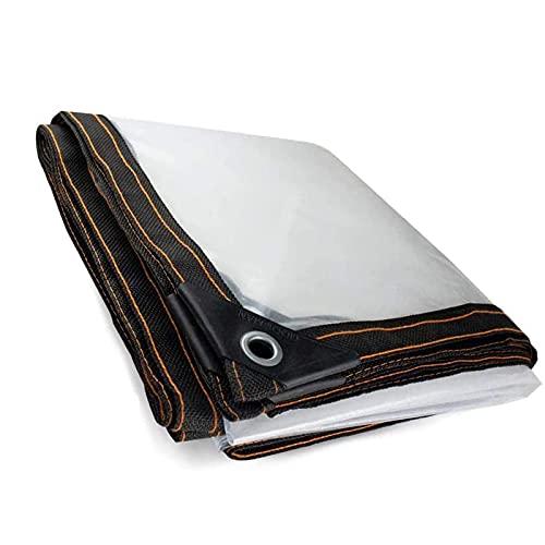 XYXH Lona Impermeable Transparente con Ojales 4x5m, Lonas De Exterior, Toldo De Aislamiento Cubierta, A Prueba De Lluvia Resistente a La Rotura - para Casa, Jardín Camping