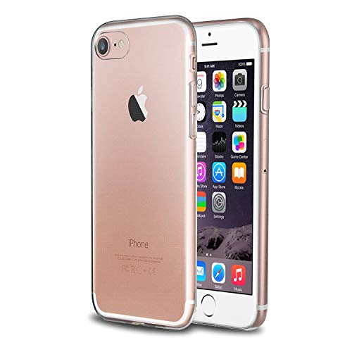 Compatible with iPhone SE 2020 Case, by Insten Transparent TPU Rubber Shell Case Compatible with Apple iPhone New SE 2020 SE 8 7 - Clear (Ultra Slim fit)