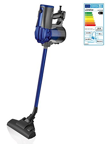 briebe V-Cyclon - Aspirador ciclónico Escoba sin Bolsa Potente, Uso Vertical y de Mano, 600W, Radio acción 6,5 m, Color Azul