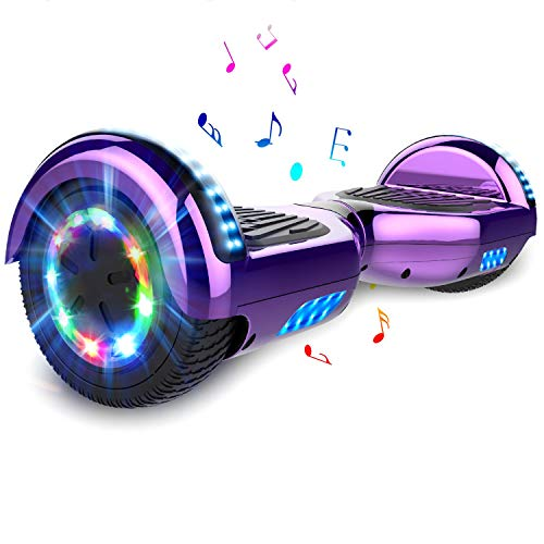 COLORWAY Hoverboard Hover Scooter Board 6.5 Pulgadas con Ruedas de LED, Patinete El¨¦ctrico con Bluetooth de Potente Motor Auto-Equilibrio