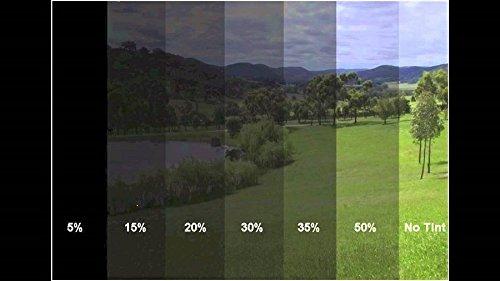 A1 76x300cm SCHWARZ 20% Unzerkratzbare Tönungsfolie Sonnenschutzfolie Scheibefolie Fensterfolie Sichtschutzfolie Scheibentönung