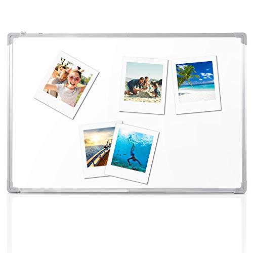 DREAMADE Magnettafel Beschreibbar, Whiteboard Set Magnetwand Weiß, Weißboard Whiteboard Magnetisch und Beschreibbar,Magnettafel mit Stiftablage und Abnehmbare Haken (60 x 40 cm)