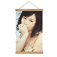 現代絵画キャンバス絵画 NMB48 山本彩 ポスター壁アート画像リビングルームベッドルーム現代家の装飾木製フレーム34 * 52cm