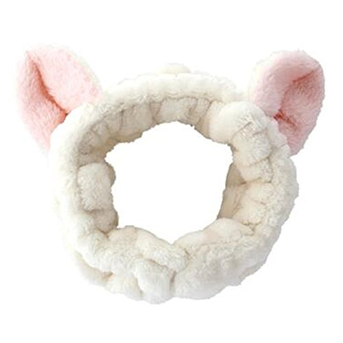 Oreilles à chat 3D à la mode Accessoire pour cheveux Bandeau pour cheveux Handcraft, Beige