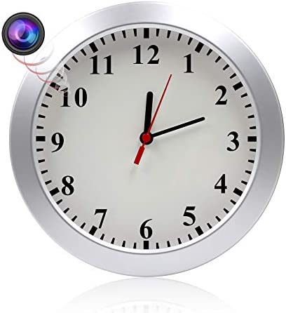 MAGHO 1080P Hidden Spy Camera Wall Clock Nanny Cam with Motion Detection, Indoor Covert Security Camera for Home and Office, No WiFi Version