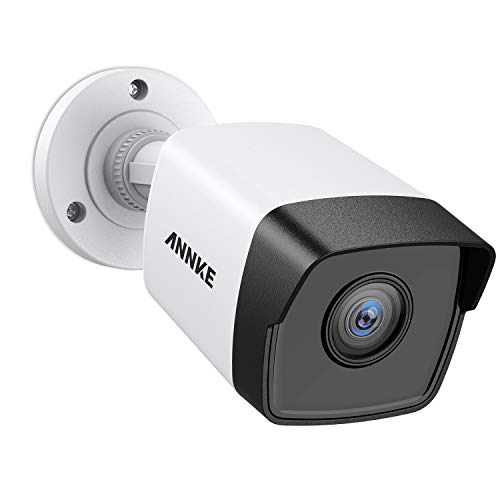 ANNKE 5MP PoE Security Camera 2560x1920 Super HD Bullet IP Cam, 100ft EXIR Night Vision, H.265+ Video Compression, Onvif Compliant, IP67 Weatherproof for Outdoor Indoor