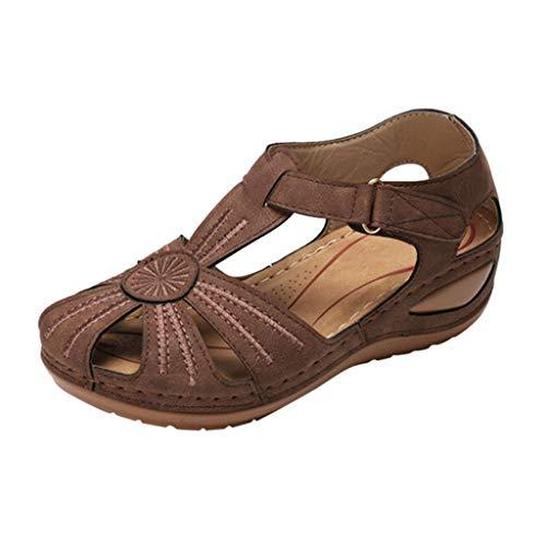 LuckyGirls Chic Sandalias Mujer Verano 2020 Elegantes Plataforma Cuña Zapatos Mujer Tacon Bajo Comodas Casual Sandalias de Mujer Trekking Vestir Fiesta Punta Cerrada