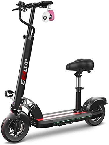 Bicicleta eléctrica de nieve, Bicicletas eléctricas rápidas for adultos 500W motor 10' neumáticos hinchables, plegable for adultos Kick Scooter eléctrico for conmutar y viajes, Velocidad máxima 45 kil