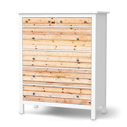 creatisto Möbeltattoo passend für IKEA Hemnes Kommode 6 Schubladen I Möbelaufkleber - Möbel-Folie Tattoo Sticker I Wohn Deko Ideen für Esszimmer, Wohnzimmer - Design: Bright Planks