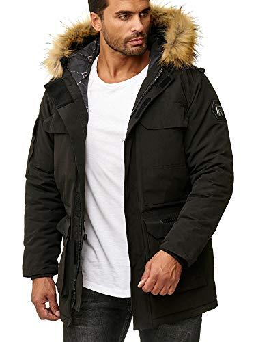Redbridge Abrigo Invernal para Hombre Capote Chaqueta con Capucha