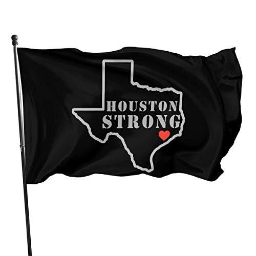 Roman Lin Politische Flaggen,Welcome Gartenflagge,Willkommensflagge,Gartendekoration Flagge,Houston Starke Karte Haus Yard Flagge,Dekoration Garten Flagge,3X5 Ft