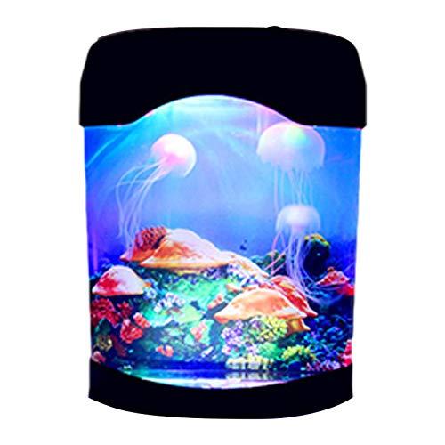 tulipde Quallen Stimmungs Lampe Quallen Licht 3D Kinder Nachtlicht Aquarium Stimmungslampe Multicolor Beleuchtung Dekoration für Kid Geschenke Decor judicious