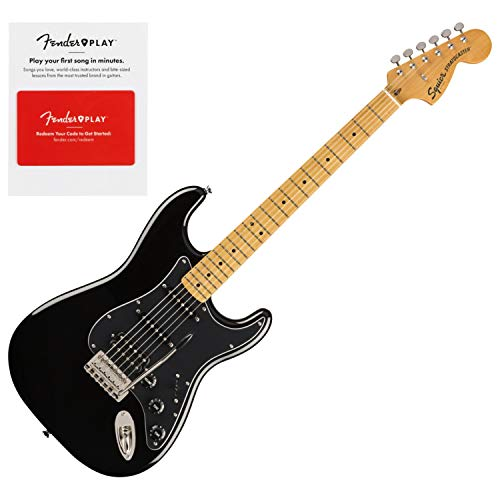Squier 0374023506 Classic Vibe 70s Stratocaster HSS, Maple Fingerboard, Black w/