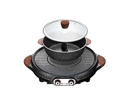 MNBVC BBQ Grill Rauchfrei Mit Wasserbad Raclette Zum Im Haus Auf Dem Balkon Oder Im Garten Grill