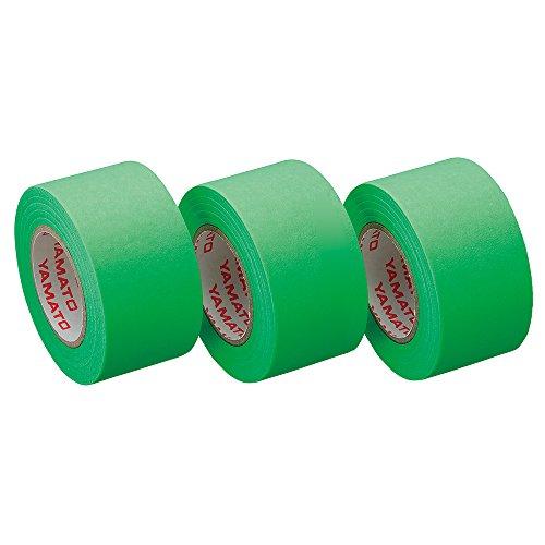 ヤマト 付箋 ロールテープ 詰替え 3巻入 25mm×10m WR-25H-LI3 ライム