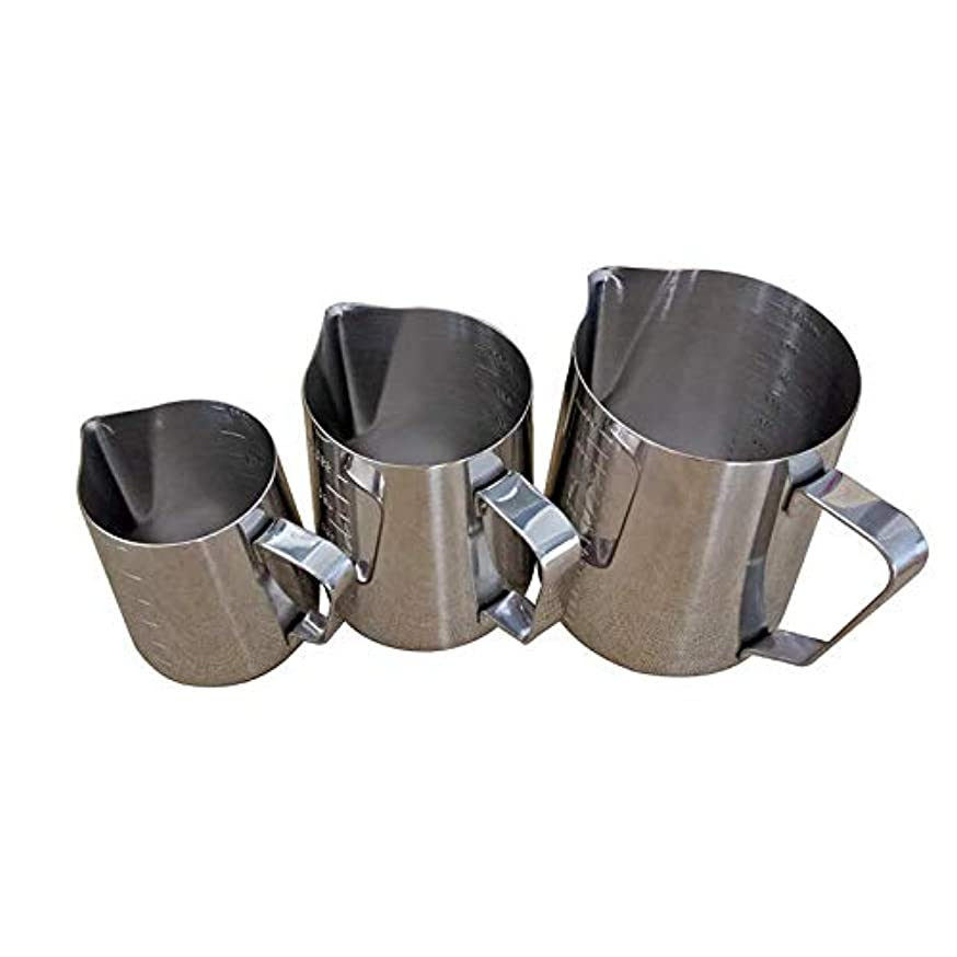 Chris.W 1 Piece 350ML Candle Making Pouring Pot with Scale and Dripless Pouring Spout, Stainless Steel Wax Melting Pitchers Cup, Candle Making Supplies