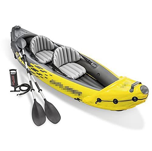 L1YAFYA Aufblasbarer Kayak Explorer K2 Wassersport Tragbare Fischerboot Doppel-PVC-Boot Kayak 2 Pump-Paddel (Color : INTEX Explorer K2)