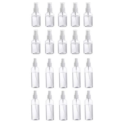 Heritan Botella brumosa vacía del atomizador plástico transparente del perfume del viaje 20Ps 50/100Ml
