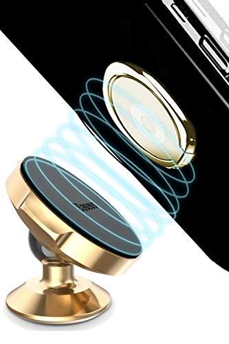 Across マグネット車載ホルダー スマホリング セット スタンド 強力磁石(ゴールド)